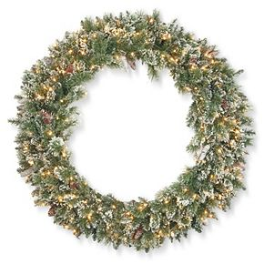 National Tree Co. 48-in. Glittery Bristle Pine Wreath & Clear Lights