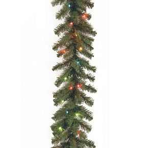National Tree Company 9 ft. Kincaid Spruce Garland with Multicolor Lights
