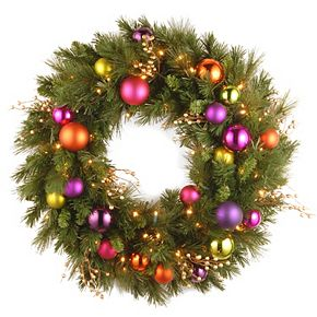 National Tree Co. 30-in. Kaleidoscope Wreath & Battery Operated Warm White LED Lights