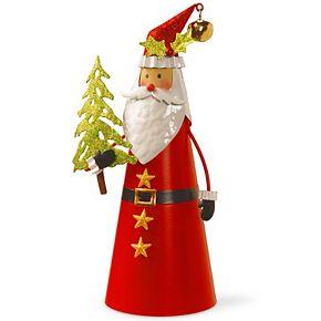 National Tree Co. 12-in. Metal Santa Character