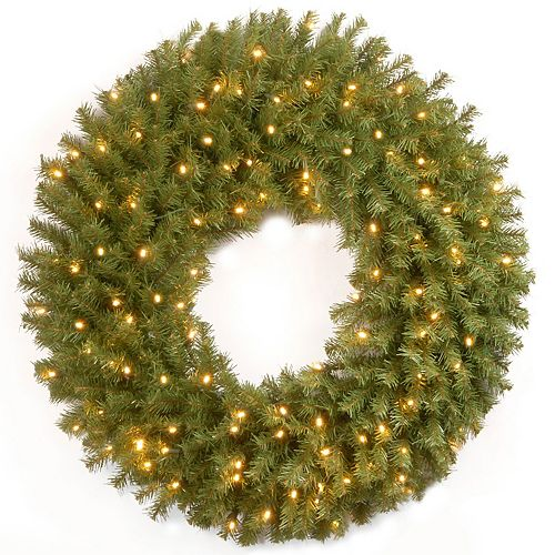National Tree Co. 30-in. Norwood Fir Wreath & Battery Operated Warm White LED Lights