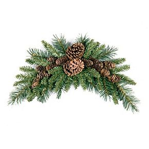 National Tree Co. 36-in. Pine Cone Crescent