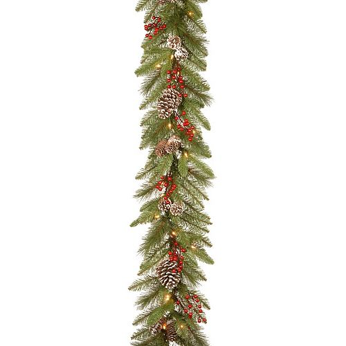 National Tree Co. 9-ft. Bristle Berry Garland & Clear Lights