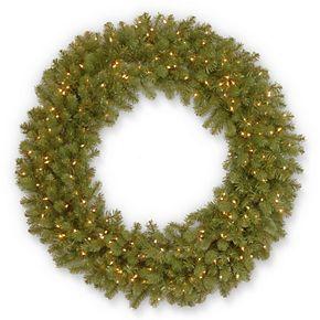 National Tree Co. 48 -in. Downswept Douglas Fir Wreath & Clear Lights