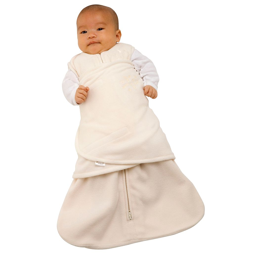 HALO Fleece SleepSack Swaddle Set - Cream