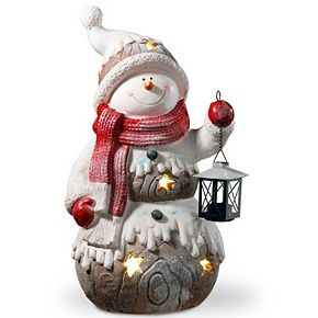 National Tree Company 21 in. Lighted Snowman Décor Piece