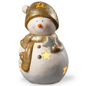 National Tree Company 8 in. Lighted Holiday Snowman Décor
