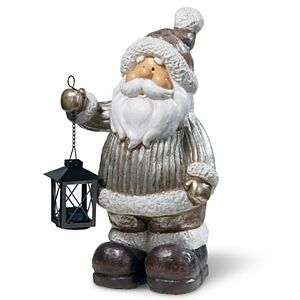 National Tree Company 16 in. Santa Décor Candleholder Piece