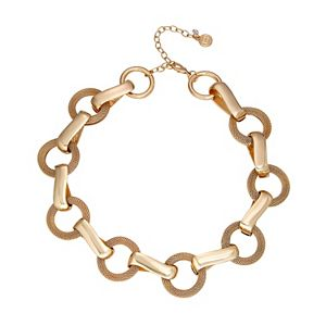 Dana Buchman Gold Mesh Collar Necklace