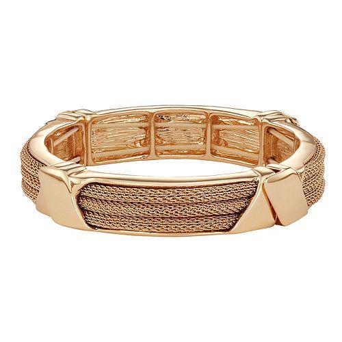 Dana Buchman Gold Mesh Stretch Bracelet