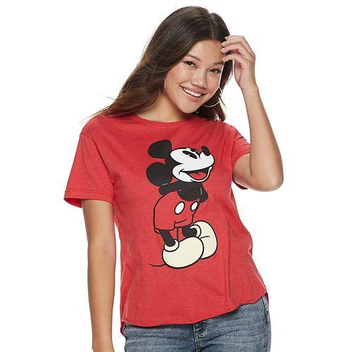 Juniors' Disney's Mickey Mouse Graphic Tee