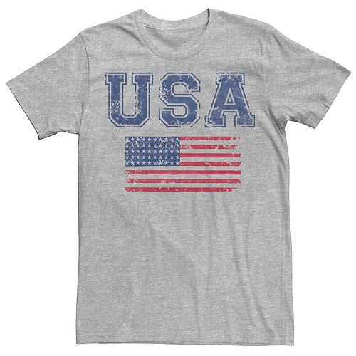 Men's Chin Up USA & Flag Very Distressed Tee