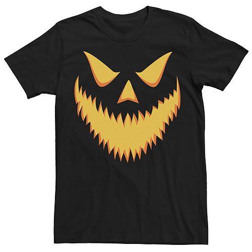 Men's Halloween Jack-o'-lantern Scary Grin Tee