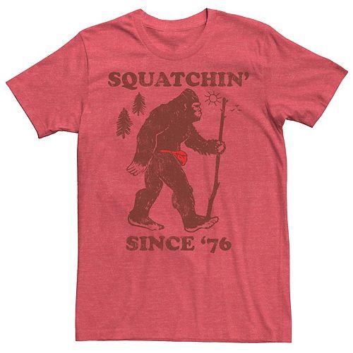 Men's Squatchin' Since '76 Big Foot Vintage Outdoors Tee