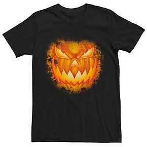Men's Halloween Spooky Jack-o'-lantern Evil Grin Tee