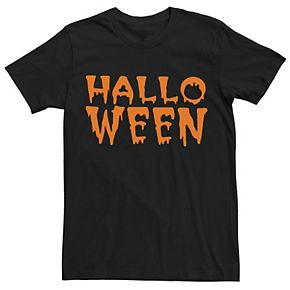 Men's Halloween Creepy Drip Letters Tee