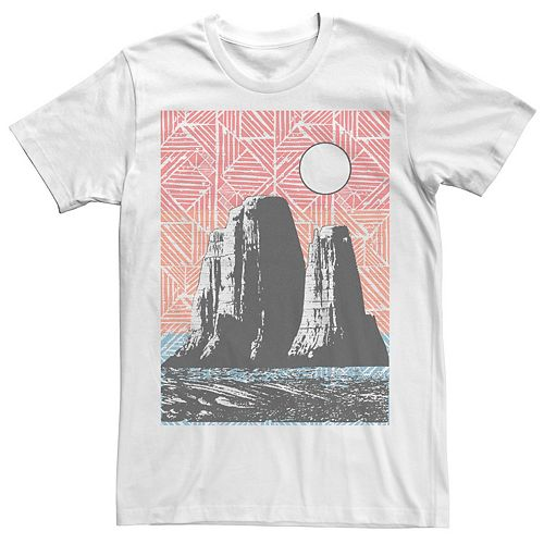 Men's Geometric Mesa Mountains Poster Tee