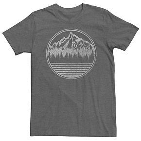 Men's Mountains Range Landscape Circle Portrait Tee