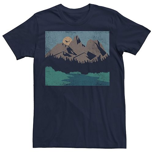 Men's Distressed Lanscape Poster Tee
