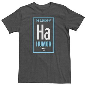 Men's Ha The Element of Humor Periodic Table Tee