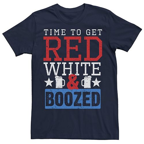Men's Time To Get Red White & Boozed Tee