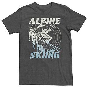 Men's Alpine Skiing Portrait Stamp Tee