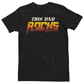 Men's Father's Day This Dad Rocks Sunset Tee