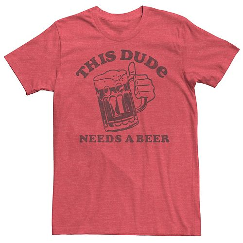 Men's St. Patrick's Day This Dude Needs A Beer Tee