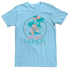Men's Let's Get Tropical Island Floral Fill Tee