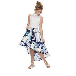 Girls 7-16 & Plus Size Speechless Mockneck High-Low Fit & Flare Dress