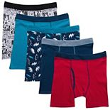 Boys 6-20 Hanes Ultimate® 5-Pack Comfort Cotton Boxer Briefs