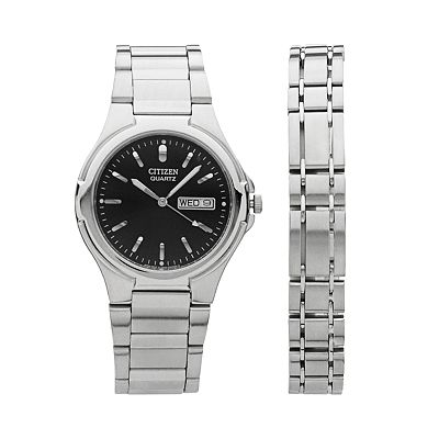 Citizen Silver Tone Watch Set - Men