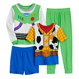 Disney / Pixar's Toy Story Boys 4-10 Woody & Buzz Lightyear Tops & Bottoms Pajama Set