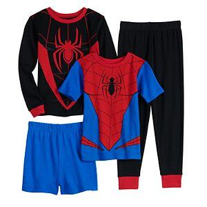 Boys Boys 4-10 Marvel Spider-Man Tops & Bottoms Pajama Set