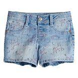 Girls 4-12 SONOMA Goods for Life® Unicorn Print Denim Shorts
