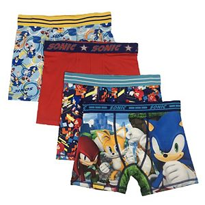 Boys 6-10 4-Pack Sonic the Hedgehog Athletic Boxer Briefs
