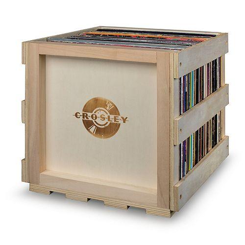 Crosley Radio Stackable Record Storage Crate