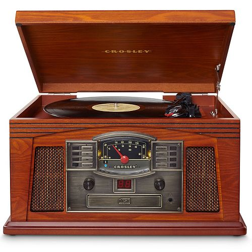 Crosley Lancaster Bluetooth Record Player & 3-Speed Turntable