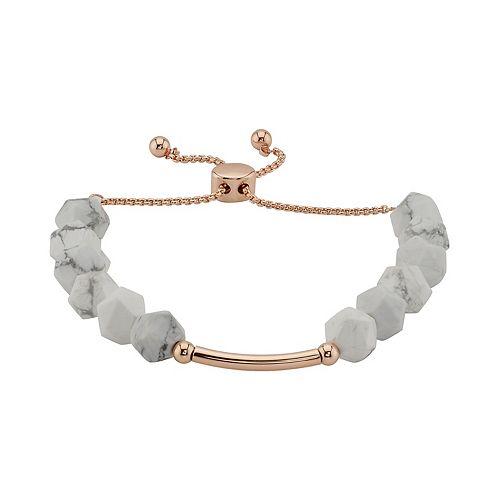 LovethisLife® Howlite Stone Bar Bolo Bracelet