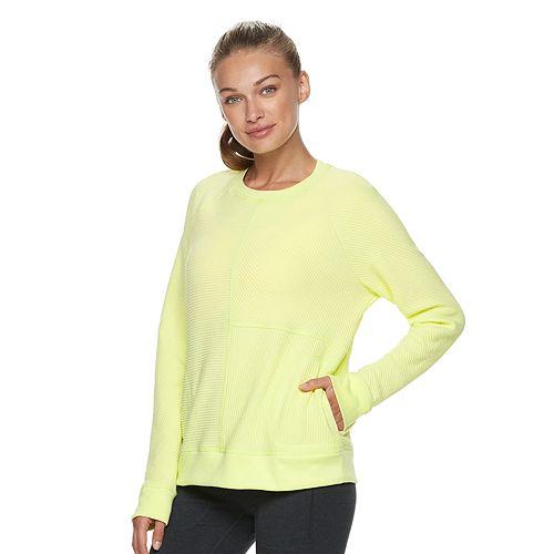 Fila Petite Logo Sweatshirt With Sports Stripe Sleeve Gray