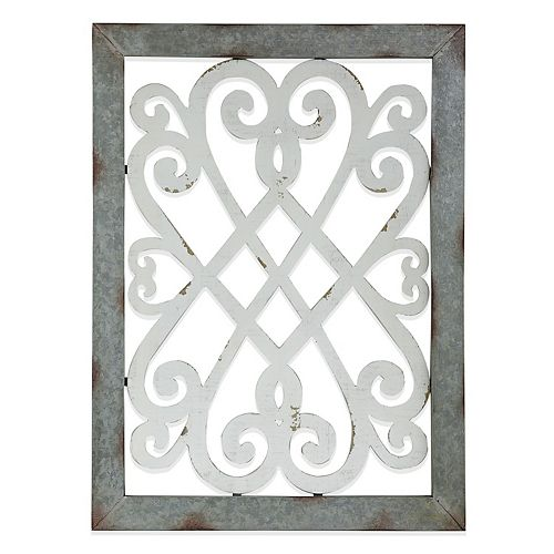 Belle Maison Wood & Metal Wall Decor