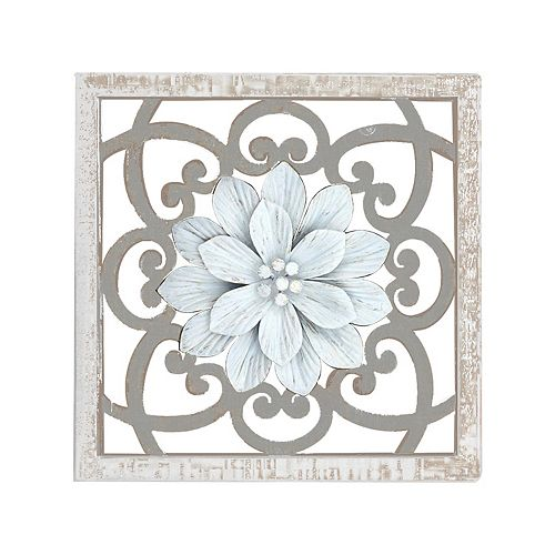 Belle Maison Medallion Wood & Metal Wall Decor