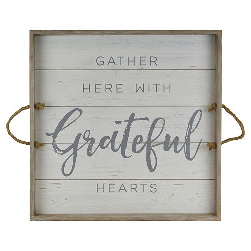 "Belle Maison ""Gather Here With Grateful Hearts"" Wall Art"