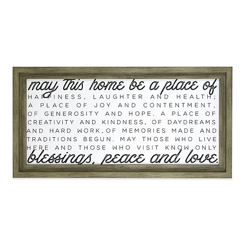 Belle Maison May This Home Wall Art