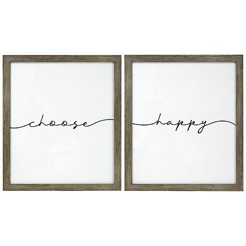 Belle Maison Choose Happy Wall Art
