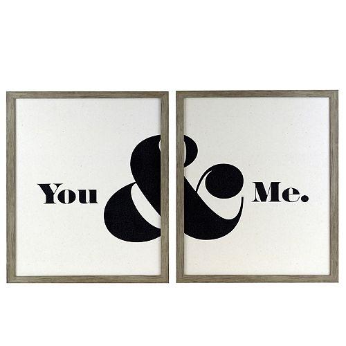 """Belle Maison """"You & Me"""" 2-pc. Set Wall Art"""