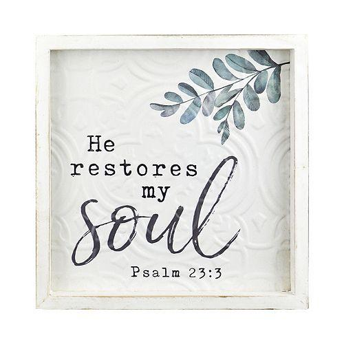 """Belle Maison """"He Restores my Soul"""" Wall Decor"""