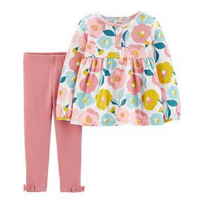 Toddler Girl Carter's Floral Top & Legging Set