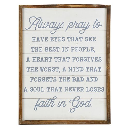 "Belle Maison ""Always Pray"" Wall Art"