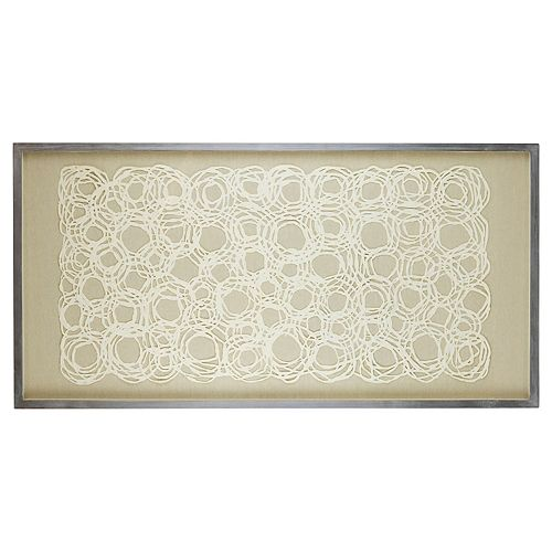 Belle Maison Circles Under Glass Wall Decor